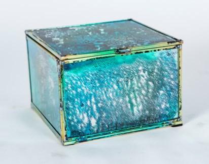 Small Square Box in Rain Dance Finish