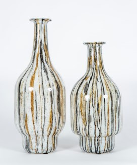 Large Fullerton Vase in Gray Whisper Finish