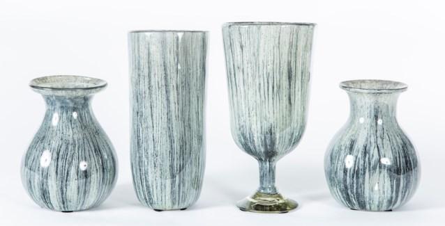 Set of 4 Vases in Black Sand Finish
