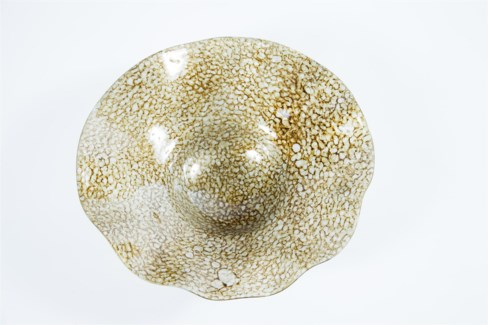 Wave Bowl w/ Wall Base in Sea Pearls Finish