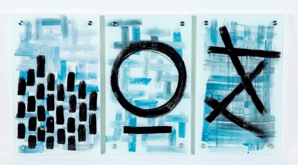 Nuremburg Streets Abstract Painted Glass Wall Art - Set of 3
