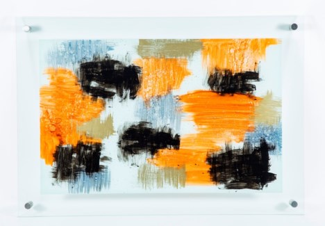 Sienna Haze Painted Glass Wall Art