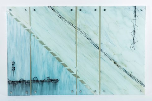 Landslide Painted Glass Wall Art - Set of 4