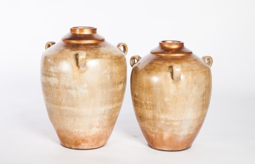 Large Vase with 3 Handles in Bedouin Trail