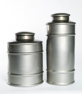 Large Tea Canister in Mercury