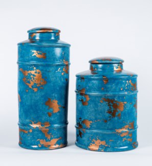 Large Tea Canister in Galapagos Finish
