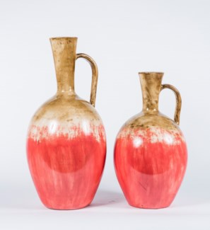 Large Pitcher in Crisp Salmon Finish