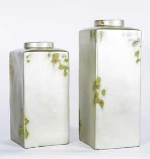 Large Square Canister in Silver Birch Finish