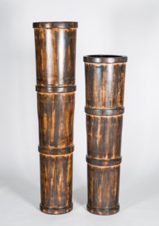 Large Tapered Floor Pot in Wilderness Finish