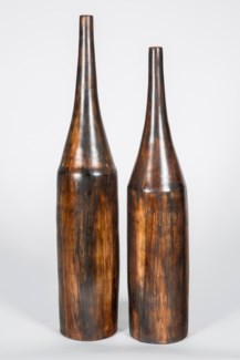 Large Tall Neck Vase in Wilderness Finish