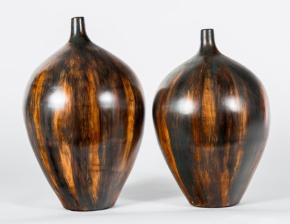 Large Bulb Vase in Wilderness Finish