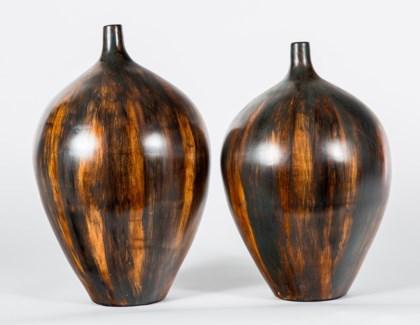 Large Bulb Vase in Wilderness Finish