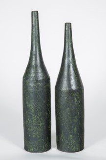 Medium Tall Neck Vase in Foothills Finish