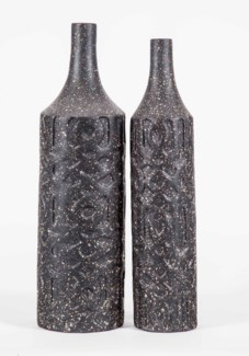 Medium Bartlett Embossed Vase in Deep Space Finish