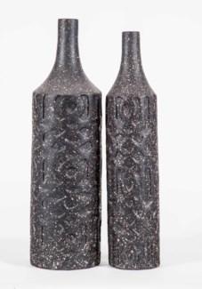 Medium Bartlett Embossed Vase in Deep Space Finish