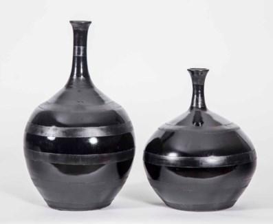 Large Mercer Vase in Moon Glass Finish