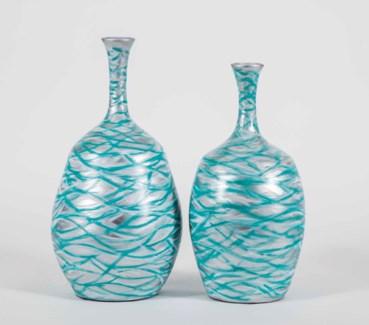 Large Bradford Vase in Tropical Sea Finish