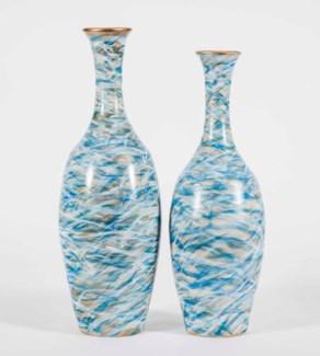 Large Dalton Vase in Spring Storm Finish