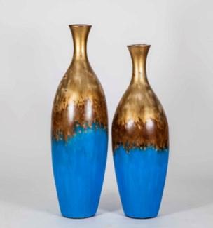 Large Ingram Floor Vase in Sea Wall Finish