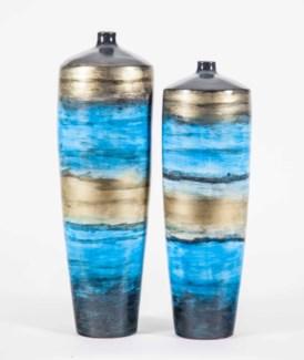 Large Tibor Vase in Windsong Finish