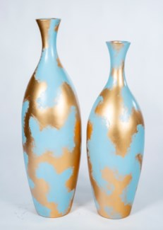 Large Floor Vase in Golden Sky Finish