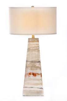 """Christopher Table Lamp Fence Post Finish with White/White 18"""" Drum Shade"""