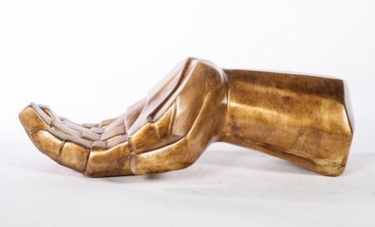 Hand Sculpture in Saffron