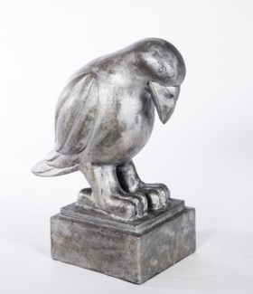 Crow Sculpture in Silver Cast