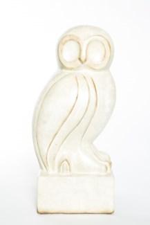 Owl Sculpture in Parchment