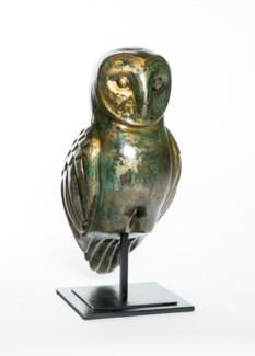 Owl Sculpture on Stand in Havana