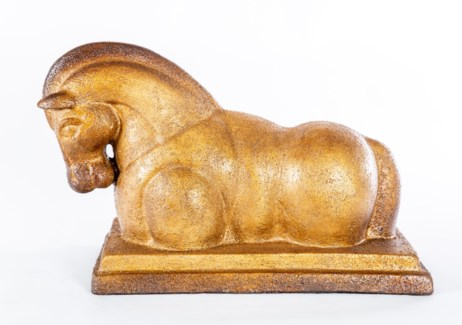 Horse Sculpture in Toasted Cashew Finish
