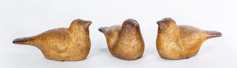 Set of 3 Birds in Toasted Cashew Finish