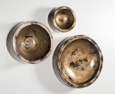 Small Wall Bowl in Oiled Steel
