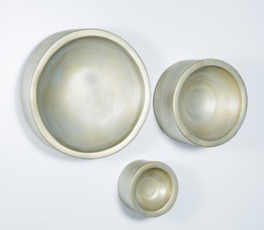 Large Wall Bowl in Fool's Gold Finish