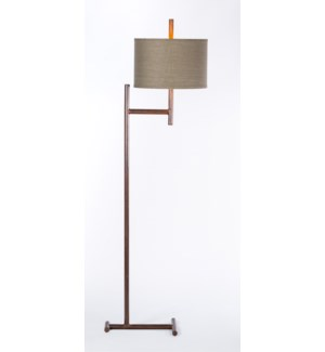 Floor lamps prima design source parker iron floor lamp with 15 drum shade in greygold aloadofball Choice Image