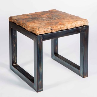 Chester Side Table with Live Edge Marble Top