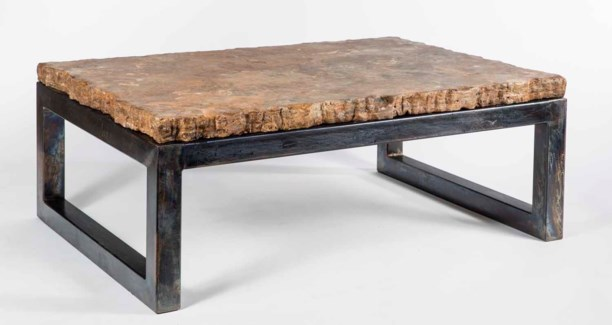 Chester Cocktail Table with Live Edge Marble Top