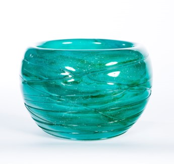 Bowl with Texture in Ice Blue Finish