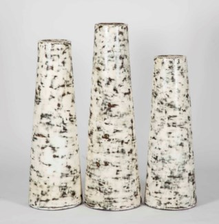 Large Lighthouse Vase in Cookies and Cream Finish
