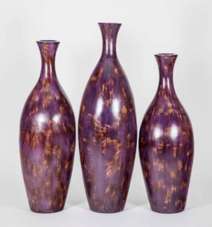 Large Russo Vase in Eggplant Finish
