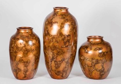 Large Dugan Vase in Old Copper Kettle Finish