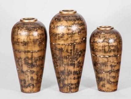 Large Eason Vase in Toasted Chestnut Finish