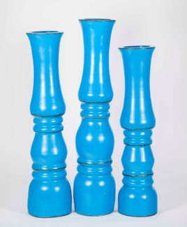 Large Spindle Jar in Milano Teal Finish