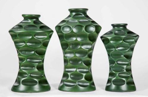 Large Rowley Vase in Irish Moss Finish