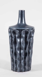 Wavy Vase in Caldron Finish