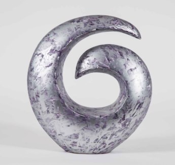 Spiral Sculpture in Gilded Violet Finish