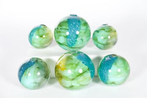 Spheres Set of 6 in Atlantis Reef Finish