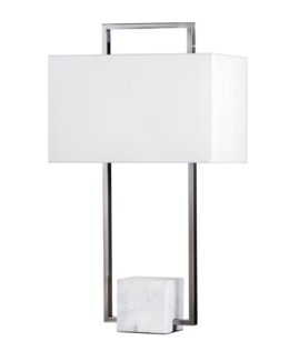 Stratum Table Lamp Brushed Nickel