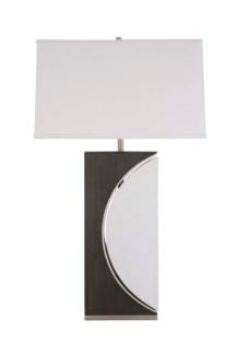 Half Moon Table Lamp Charcoal Gray
