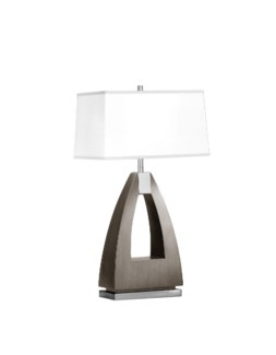Trina Table Lamp Charcoal Gray